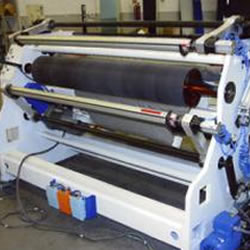 Rewinder machine for protective films