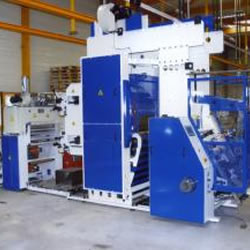 PRINTING PRESS FOR STRETCH FILM 2 COLOURS, AUTOMATIC CHANGE FINISHED ROLL