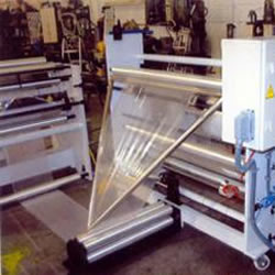 Folding machine with web guide